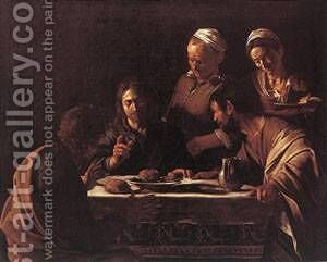Supper at Emmaus2 by Caravaggio - Reproduction Oil Painting