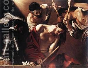 The Crowning with Thorns1 by Caravaggio - Reproduction Oil Painting