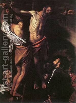 The Crucifixion of St Andrew by Caravaggio - Reproduction Oil Painting