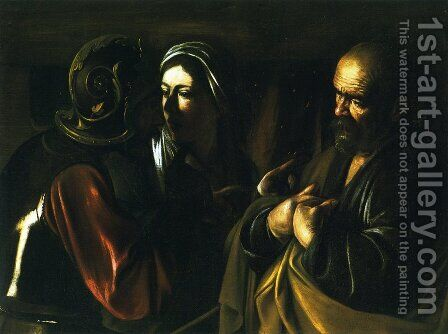 The Denial of Saint Peter by Caravaggio - Reproduction Oil Painting