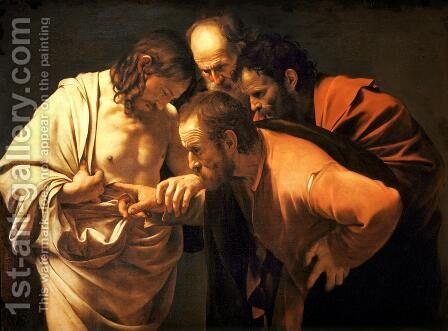 The Incredulity of Saint Thomas by Caravaggio - Reproduction Oil Painting