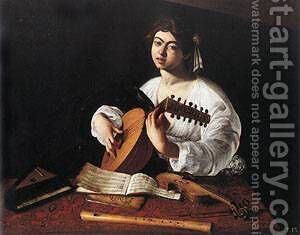 The Lute Player 2 by Caravaggio - Reproduction Oil Painting