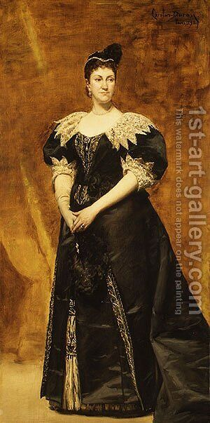 Mrs. William Astor (Caroline Webster Schermerhorn) 1890 by Carolus (Charles Auguste Emile) Duran - Reproduction Oil Painting