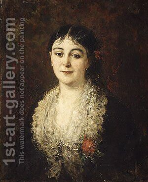Portrait of a Woman by Carolus (Charles Auguste Emile) Duran - Reproduction Oil Painting