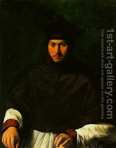 Portrait of Archbishop Bartolini Salimbeni by Girolamo da Carpi - Reproduction Oil Painting
