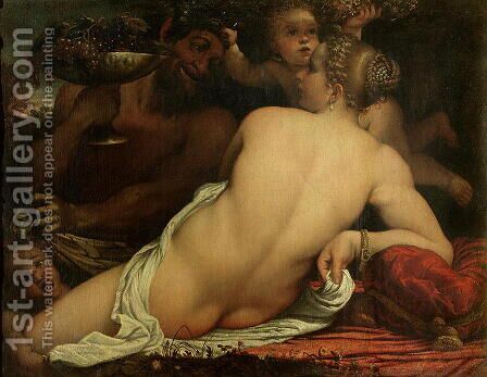 A Bacchante by Annibale Carracci - Reproduction Oil Painting