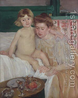 Mother and Child (Baby Getting Up from His Nap) by Mary Cassatt - Reproduction Oil Painting