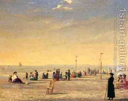 Trouville  1869 by Conrad Wise Chapman - Reproduction Oil Painting