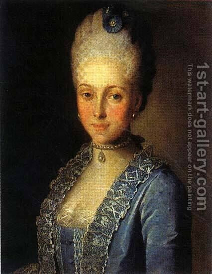Portrait Of Alexandra Perfilyeva Nee Countess Tolstaya by Carl-Ludwig Christinek - Reproduction Oil Painting