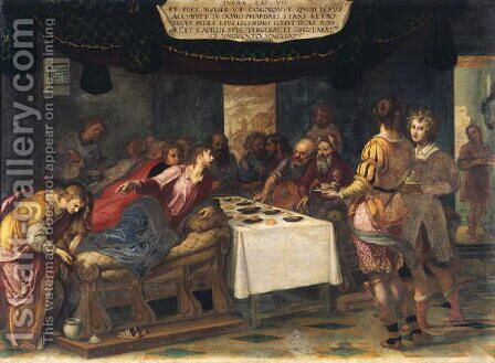 Christ in the House of Simon the Pharisee by Henri Coeylas - Reproduction Oil Painting