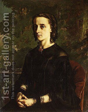 Madame de Brayer 1858 by Gustave Courbet - Reproduction Oil Painting