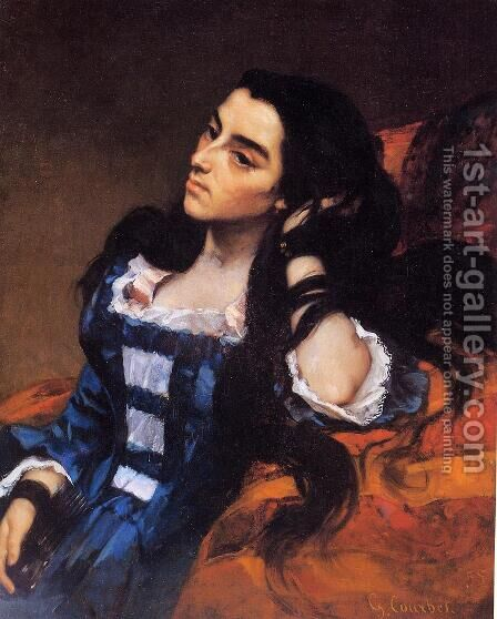 Portrait of a Spanish Lady 1855 by Gustave Courbet - Reproduction Oil Painting