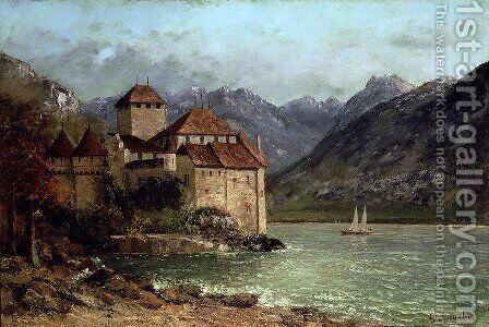 The Chateau de Chillon 1875 by Gustave Courbet - Reproduction Oil Painting