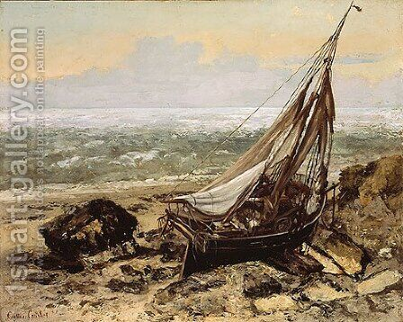The Fishing Boat 1865 by Gustave Courbet - Reproduction Oil Painting