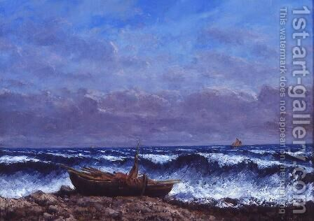 The Stormy Sea or The Wave by Gustave Courbet - Reproduction Oil Painting