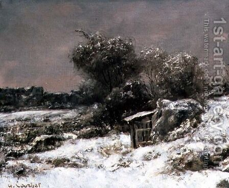 Winter Scene 2 by Gustave Courbet - Reproduction Oil Painting