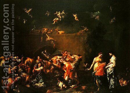 The Massacre of the Innocents by Giuseppe Maria Crespi - Reproduction Oil Painting