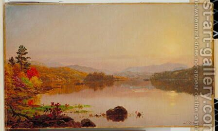 Lake Wawayanda 1876 by Jasper Francis Cropsey - Reproduction Oil Painting