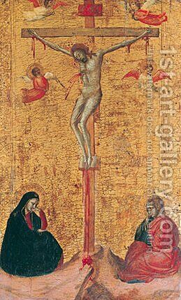 The Crucifixion ca 1325 by Bernardo Daddi - Reproduction Oil Painting