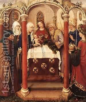 Altarpiece Of The Virgin 1433-35 2 by Jacques Daret - Reproduction Oil Painting