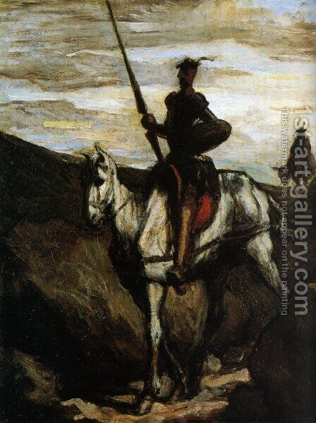 Don Quixote And Sancho Pansa 1849-1850 by Honoré Daumier - Reproduction Oil Painting