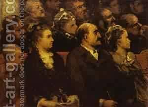 French Theatre 1857-60 by Honoré Daumier - Reproduction Oil Painting