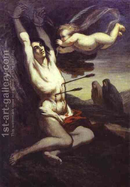 Martyrdom Of St Sebastian 1849-52 by Honoré Daumier - Reproduction Oil Painting