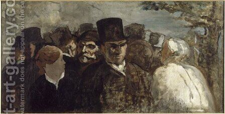 Passers By 1858-60 by Honoré Daumier - Reproduction Oil Painting