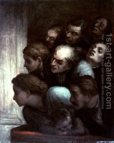 The Free Performance by Honoré Daumier - Reproduction Oil Painting