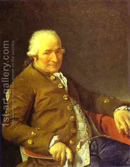 Portrait Of Charles Pierre PeCoul Contractor Of Royal Buildings by Jacques Louis David - Reproduction Oil Painting