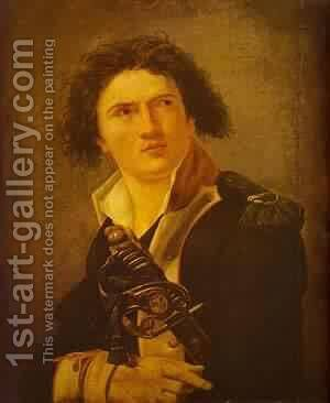 Portrait Of Lazre Hoche 1793 by Jacques Louis David - Reproduction Oil Painting