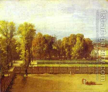 View Of The Garden Of The Luxembourg Palace 1794 by Jacques Louis David - Reproduction Oil Painting