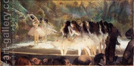 Ballet at the Paris Opers 1877 by Edgar Degas - Reproduction Oil Painting
