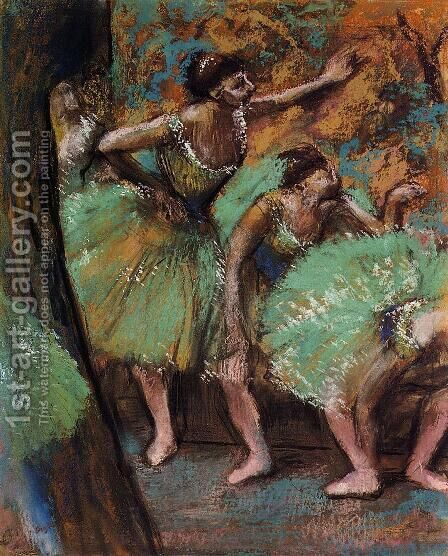 Dancers 1898 by Edgar Degas - Reproduction Oil Painting