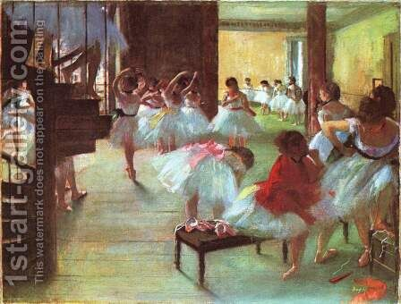 Ecole de Danse -School of Dance by Edgar Degas - Reproduction Oil Painting