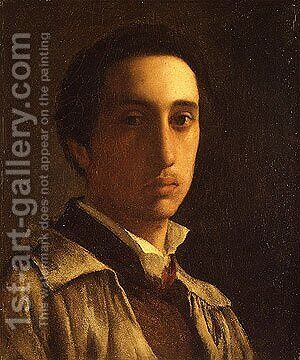 Self portrait possibly 1854 by Edgar Degas - Reproduction Oil Painting