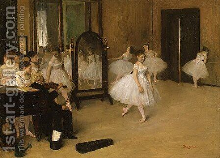 The Dancing Class probably 1871 by Edgar Degas - Reproduction Oil Painting