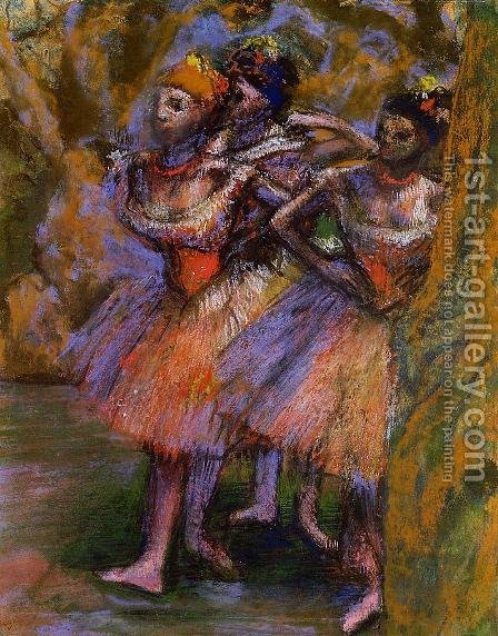 Three Dancers 1904-1906 by Edgar Degas - Reproduction Oil Painting