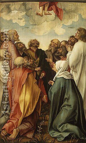 The Ascension of Christ by Hans Suss von Kulmbach - Reproduction Oil Painting