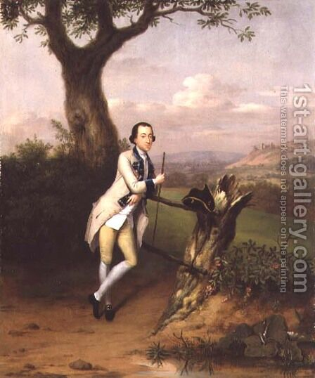 Sir John Van Hatten 1753 by Arthur William Devis - Reproduction Oil Painting
