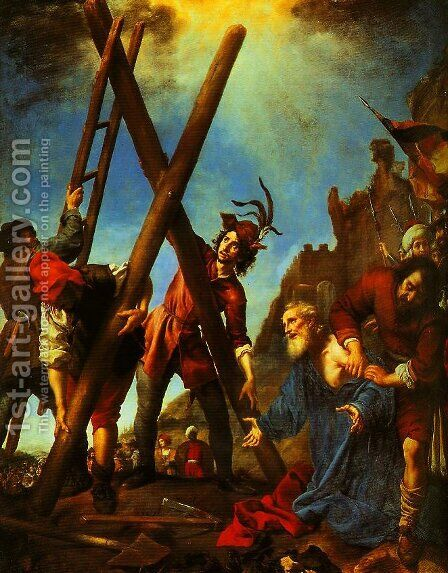St Andrwo before the Cross by Carlo Dolci - Reproduction Oil Painting