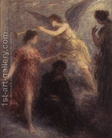 Apotheose de Berlioz 19th century by Ignace Henri Jean Fantin-Latour - Reproduction Oil Painting