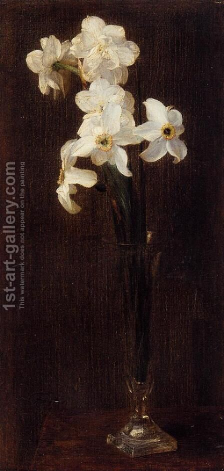 Flowers 1871 by Ignace Henri Jean Fantin-Latour - Reproduction Oil Painting