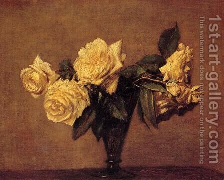 Roses 1891 by Ignace Henri Jean Fantin-Latour - Reproduction Oil Painting