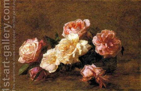Roses 1899 by Ignace Henri Jean Fantin-Latour - Reproduction Oil Painting
