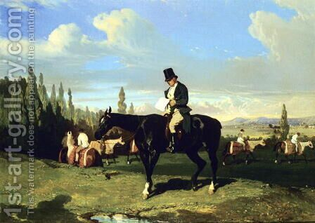 The Trainer by Alfred Dedreux - Reproduction Oil Painting