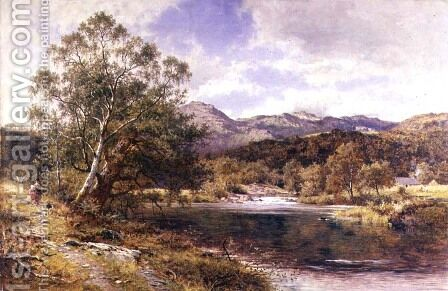 On the Llugwy North Wales 2 by Benjamin Williams Leader - Reproduction Oil Painting