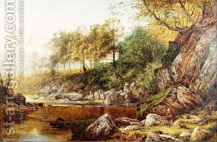 On the River Conway by Benjamin Williams Leader - Reproduction Oil Painting