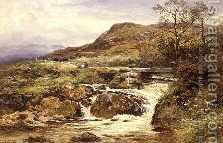 Summertime near Dolgelly North Wales 1881 by Benjamin Williams Leader - Reproduction Oil Painting