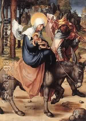 The Seven Sorrows Of The Virgin The Flight Into Egypt 1496 X by Albrecht Durer - Reproduction Oil Painting